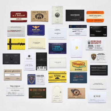 Business as Unusual: Collector's Set of Calling Cards – Cult Classics Edition, courtesy Dorothy