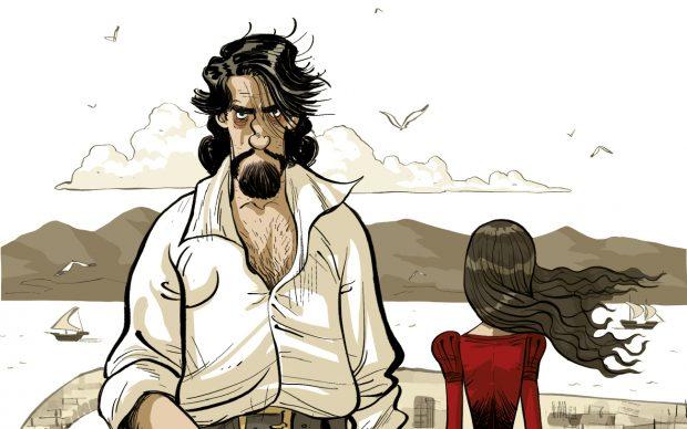 Caravaggio e la ragazza. Nadia Terranova, Lelio Bonaccorso. Feltrinelli Comics, 2021