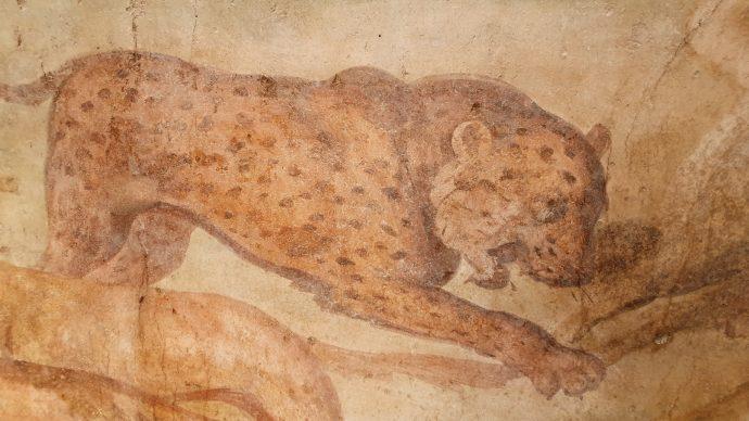 Parco Archeologico di Pompei, dettagli dell'affresco della Casa dei Ceii. Foto per gentile concessione del Parco Archeologico di Pompei