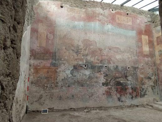 Parco Archeologico di Pompei, la Casa dei Ceii  prima del restauro. Foto per gentile concessione del Parco Archeologico di Pompei