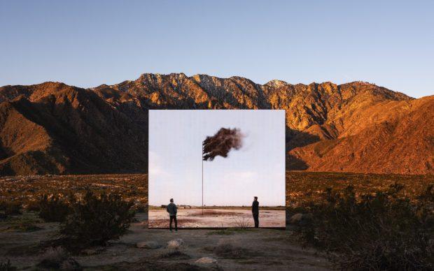 Desert X installation view, John Gerrard, Western Flag (Spindletop, Texas) 2017, 2017-2019, photo by Lance Gerber, courtesy of Desert X