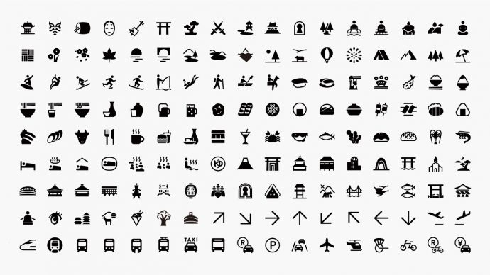 Experience Japan Pictograms. Courtesy Nippon Design Center