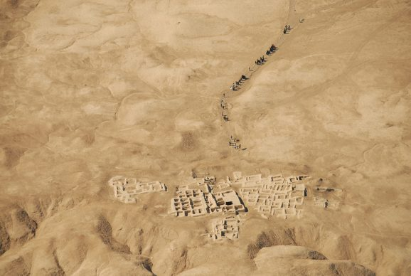 Veduta aerea di Shahr-i Sokhta. Foto di Media Rahmani