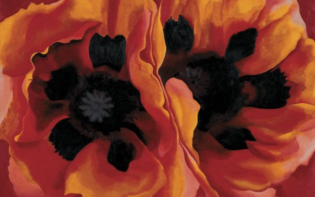 Georgia O'Keeffe, Oriental Poppies, 1927. Collection of the Frederick R. Weisman Art Museum at the University of Minnesota, Minneapolis © Georgia O'Keeffe Museum, VEGAP, Madrid