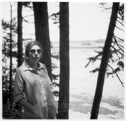 Nancy Holt near Little Fort Island, Maine (1972) Photograph: Robert Smithson ©Holt/Smithson Foundation, Licensed by VAGA at ARS, New York