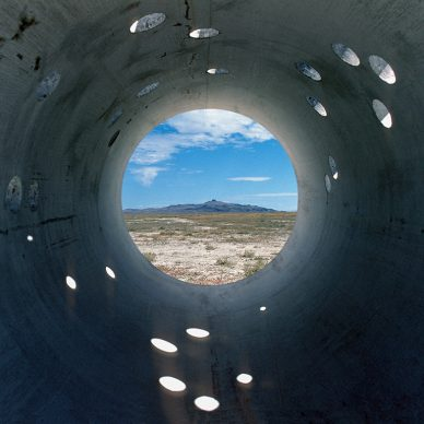 Nancy Holt, Sun Tunnels (1973-76) Great Basin Desert, Utah Concrete, steel, earth Overall dimensions: 9 ft. 2-1/2 in. x 86 ft. x 53 ft. (2.8 x 26.2 x 16.2 m); length on the diagonal: 86 ft. (26.2 m) Photograph: Nancy Holt Collection Dia Art Foundation with support from Holt/Smithson Foundation © Holt/Smithson Foundation and Dia Art Foundation, licensed by VAGA at ARS, New York
