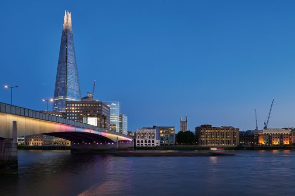 Illuminated River, London Bridge. July 2019 © James Newton