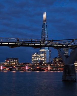 Illuminated River, Millennium Bridge. July 2019 © James Newton