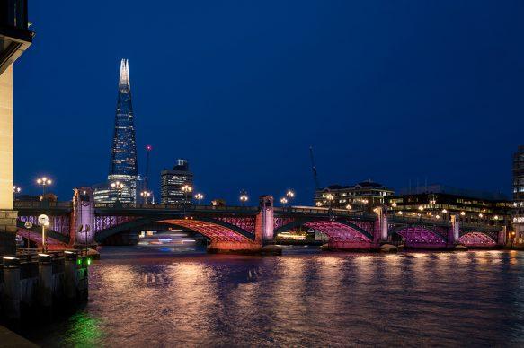 Illuminated River, Southwark Bridge. July 2019 © James Newton