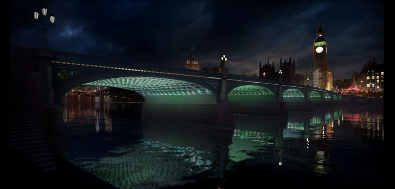 Illuminated River, Westminster Bridge © Leo Villareal