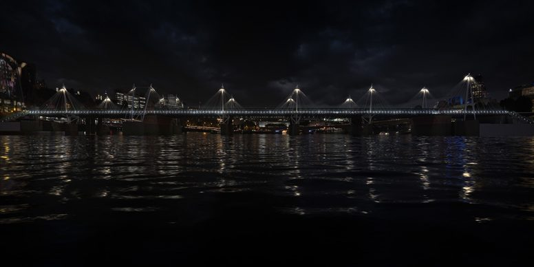 Illuminated River, Golden Jubilee © Leo Villareal