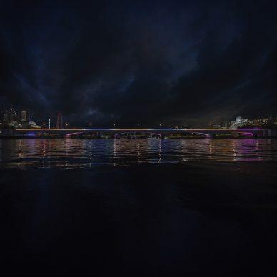 Illuminated River, Waterloo © Leo Villareal