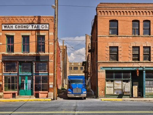 Luca Campigotto© , Butte Montana (Blue truck), 2019, Pigment print, cm 110x146, From an edition of 15 signed on verso framed, Courtesy Photology