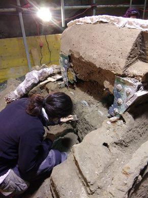 Parco Archeologico di Pompei, il restauro del carro da parata di Civita Giuliana. Foto per gentile concessione del Parco Archeologico di Pompei