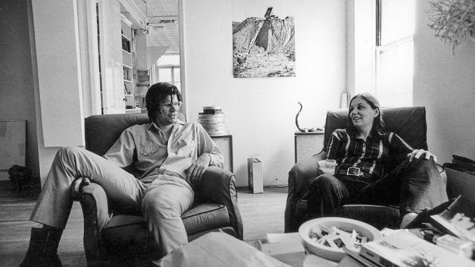 Nancy Holt and Robert Smithson in their West Village loft, New York City (1970) Photograph: Gianfranco Gorgoni ©Holt/Smithson Foundation, Licensed by VAGA at ARS, New York