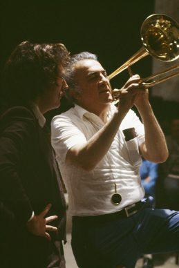 Ritratto Rosso - Fellini sul set di Prova d'orchestra. Fotografia di Elisabetta Catalano © Elisabetta Catalano