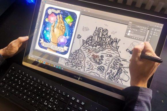 Fabula for Kids. Tutte le carte sono state illustrate a mano e portate in digitale in seguito. Credits Michael Kohlweg