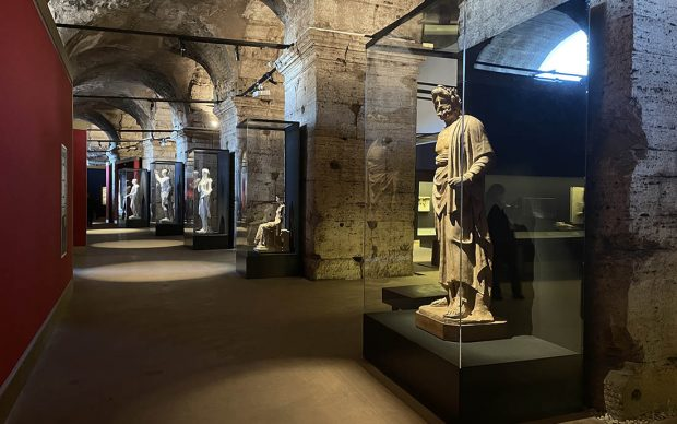Vista dell'allestimento della mostra Pompei 79 d.C. Una storia romana. Ph.Alessia Cacciarelli