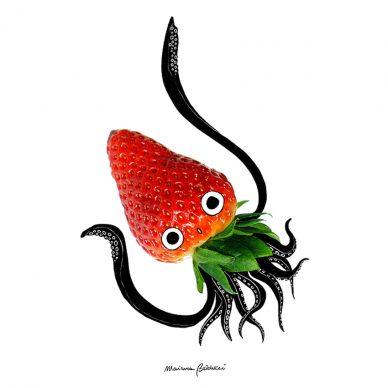 Calamafragolo. Una illustrazione di Marianna Balducci. Courtesy l'artista