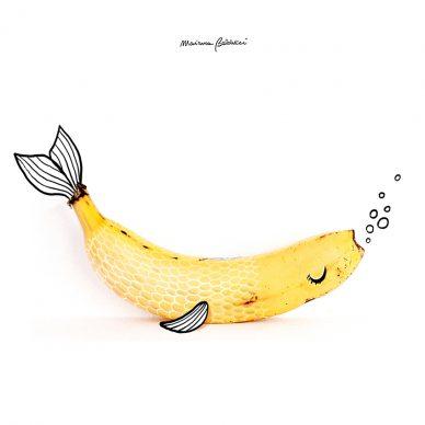 Pesce-banana. Una illustrazione di Marianna Balducci. Courtesy l'artista