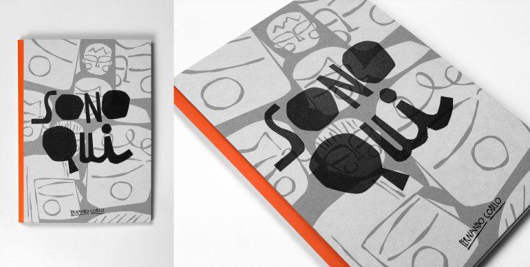 Copertina di Sono qui, stampata in serigrafia - Cortesia di Fernando Cobelo