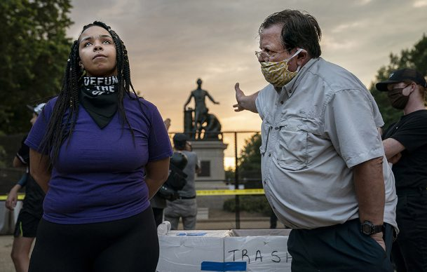 World Press Photo of the Year, nominee: Emancipation Memorial Debate © Evelyn Hockstein, United States, for The Washington Post