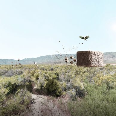 Lodgers: Serendipity in the Fly Ranch Wilderness by Zhicheng Xu and Mengqi Moon He. The top-ranked submission to the LAGI 2020 Fly Ranch Design Challenge.