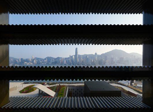 M+ Hong Kong. The South Roof Garden viewed from the M+ building. Photo ©  Virgile Simon Bertrand  - Courtesy Herzog & de Meuron