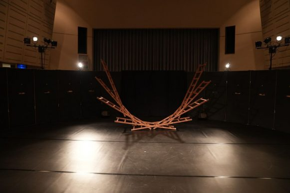 A look inside the Social Distance Theater. Photo credit Moonlight Mobile Theater