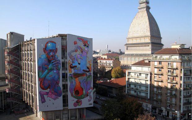 Aryz, Picturin, 2010, Palazzo Nuovo, Corso San Maurizio, Torino. Courtesy Fondazione Contrada Torino Onlus