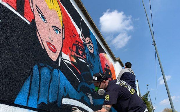 Avvio del progetto dedicato a Diabolik per la riqualificazione artistica di Via Pesto, tra via Tolstoi e via San Cristoforo - Municipio 6 a Milano