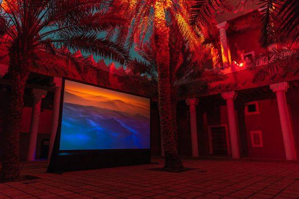 Ayman Zedani, Earthseed, 2021 3-channel video Installation Dimensions variable. Courtesy the artist. Photo © Riyadh Art 2021
