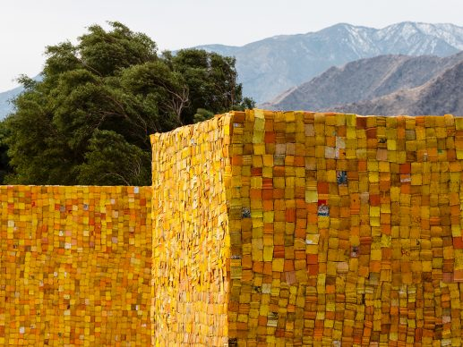 Desert X installation view of Serge Attukwei Clottey, The Wishing Well. 2021. Photography by Lance Gerber. Courtesy the artist and Desert X