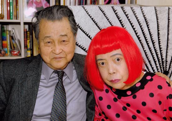 Dr Hirose and Yayoi Kusama. Courtesy of Bonhams