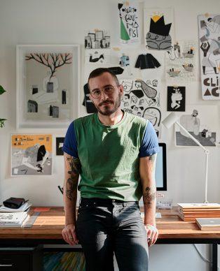 Fernando Cobelo nel suo studio - Foto di Lorenzo Morandi (YourStory) 01