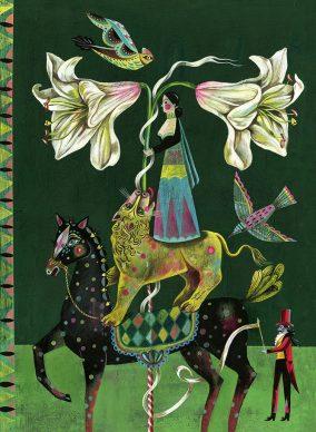 "Una tavola tratta dal libro ""Flower Power"" di Olaf Hajek. Courtesy l'artista"