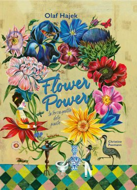 """La copertina del libro """"Flower Power"""" di Olaf Hajek (Rizzoli, 2021)"""