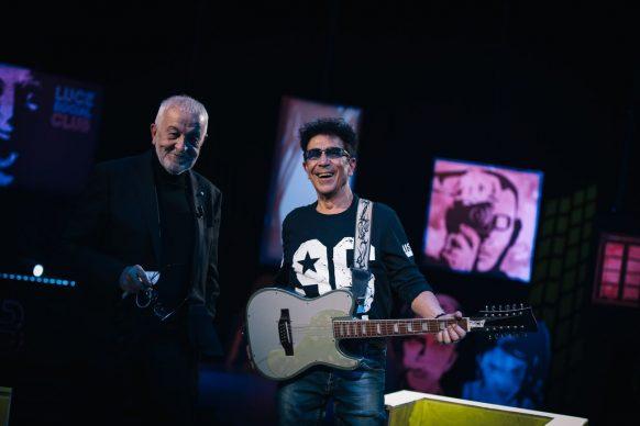 Gianni Canova ed Edoardo Bennato, ospite di Luce Social Club