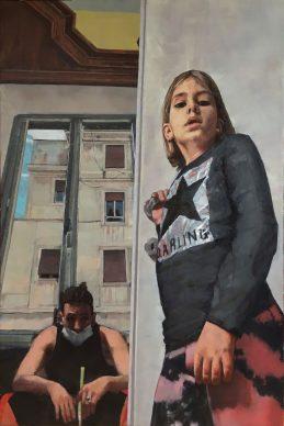 Jacopo Antonucci, Ritratto di bambina e autoritratto allo specchio. Dialogo, dimensioni, punti di vista