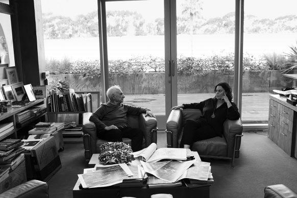 Frank Gehry and Maja Hoffmann Los Angeles, CA, 2019  © Annie Leibovitz