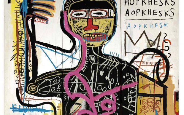 Jean-Michel Basquiat, Versus Medici, 1982. Courtesy Sotheby's, dettaglio
