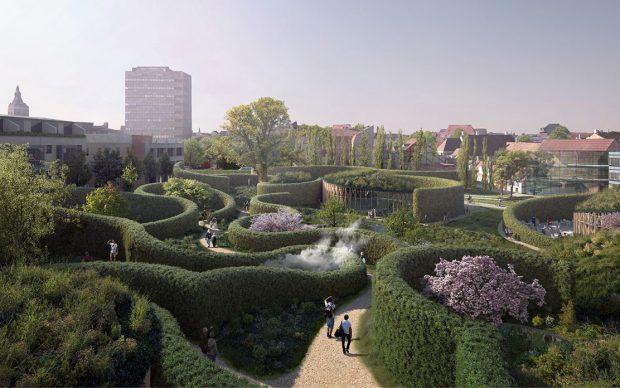Rendering, The H.C. Andersen Garden Copyright Kengo Kuma & Associates, Cornelius Vöge, MASU planning