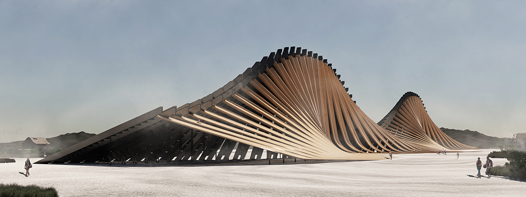 Solar Mountain by Nuru Karim and Anuj Modi. The top-ranked submission to the LAGI 2020 Fly Ranch Design Challenge.