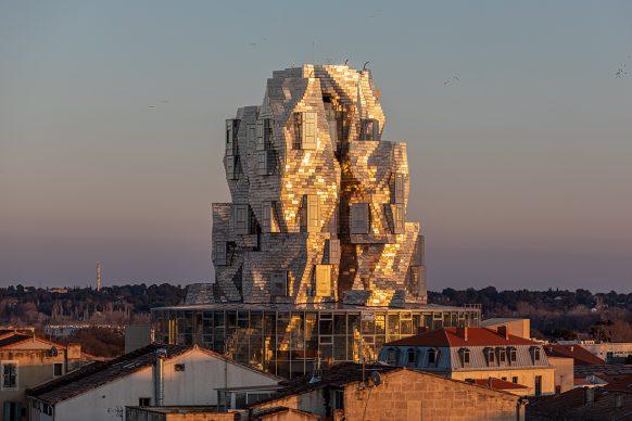 Luma Tower imagined by Frank Gehry, January 2021 Luma Arles, Parc des Ateliers, Arles (France)  © Adrian Deweerdt