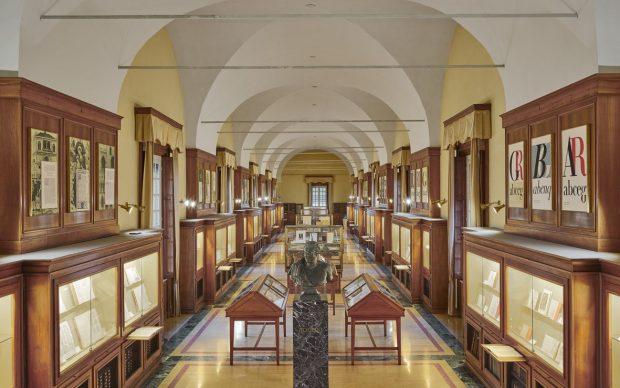 Un'immagine del Museo Bodoniano, attualmente collocato al terzo piano della Biblioteca Palatina, foto di Giovanni Hanninen