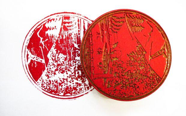un prototipo realizzato da Print Club Torino, con Fablab Torino; riproduce un'immagine giapponese. Photo courtesy Print Club Torino