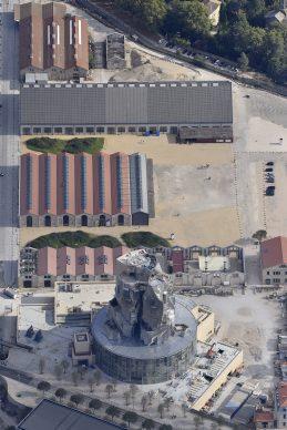 Aerial view of the site, September 2020 Luma Arles, Parc des Ateliers, Arles (France)  © Hervé Hôte