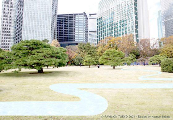 Pavilion Tokyo 2021. Provisional pavilion design by Kazuyo Sejima © Pavilion Tokyo 2021