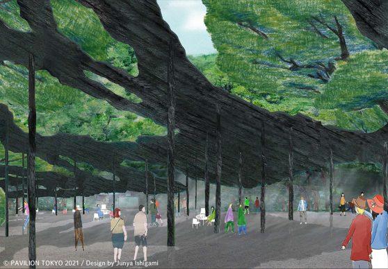 Pavilion Tokyo 2021. Provisional pavilion design by Junya Ishigami © Pavilion Tokyo 2021
