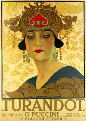 Leopoldo Metlicovitz, Manifesto per la Turandot, Milano, Archivio Storico Ricordi, ICON010367